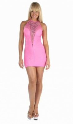 Short clubwear pink dress