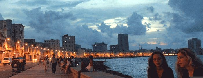 The famous Malecon Sea Wall